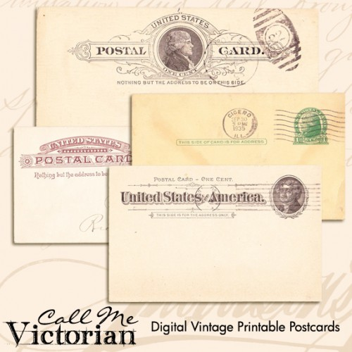 Digital-Vintage-Printable-Postcards