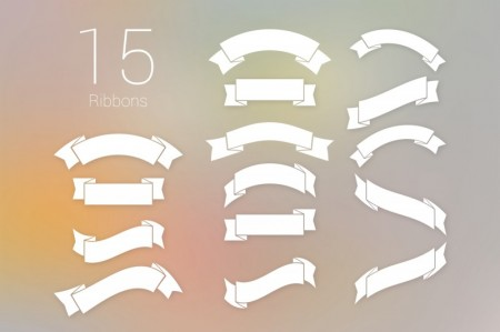 Dribbble - Free 15 Ribbons PSD