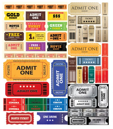 Europe-and-the-United-States-movie-ticket-vector-material-450x516