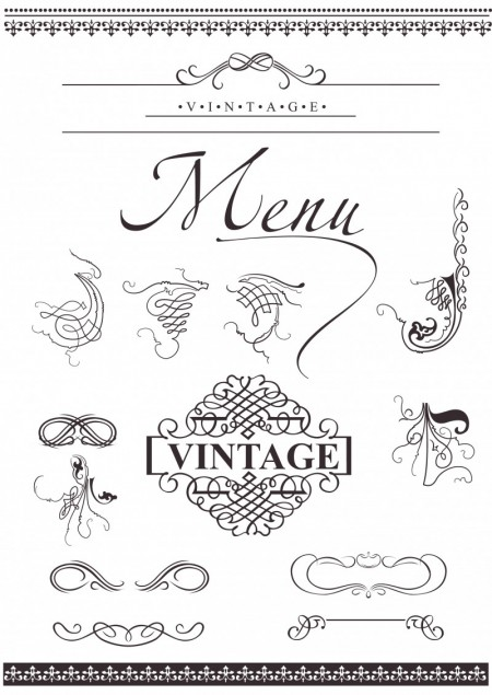 European Decorative Lace Pattern Vector Graphic 01