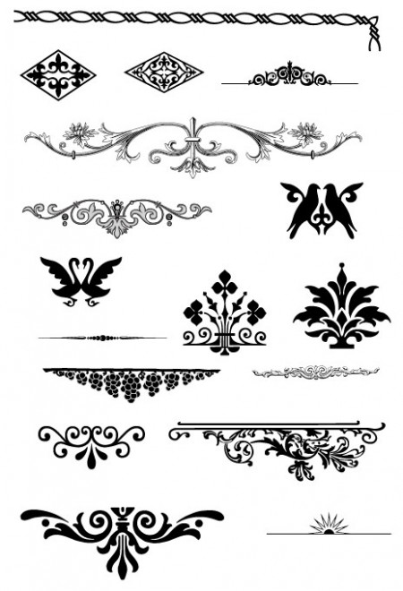 European-Gorgeous-Pattern-Element-450x660