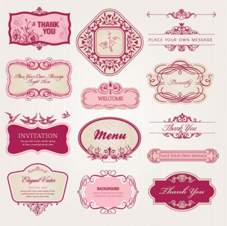 Exquisite-European-style-pattern-label-vector-1-450x448