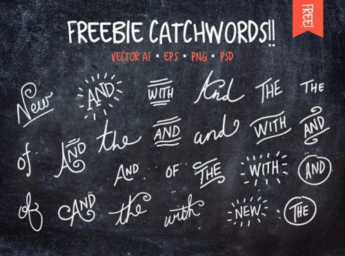 free-handwritten-words-vector