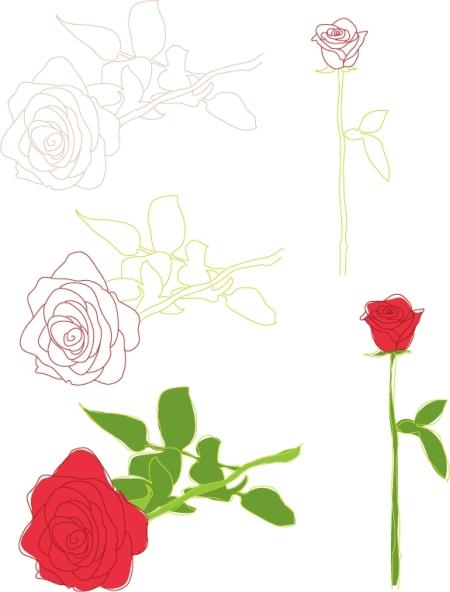 FREE-VALENTINES-VECTORS-ROSES-Free-Vector-Art-450x591
