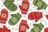 Five elegant Christmas background pattern vector material (2)