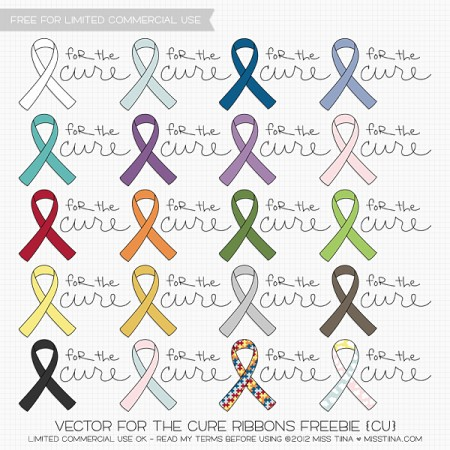 For-The-Cure-Puzzle-Pattern-Ribbons-Freebies-450x450