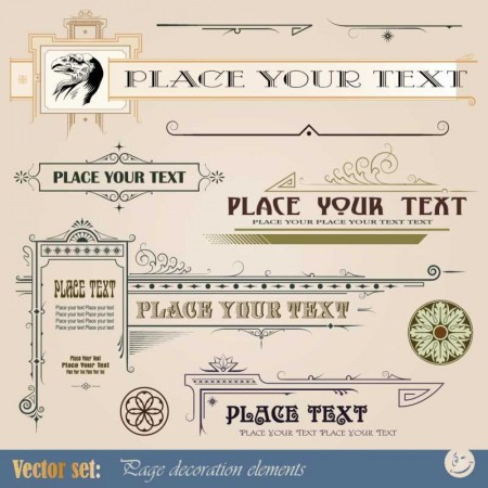 Frame-border-ornament-and-element-in-vintage-style-vector-set-5-1-450x450