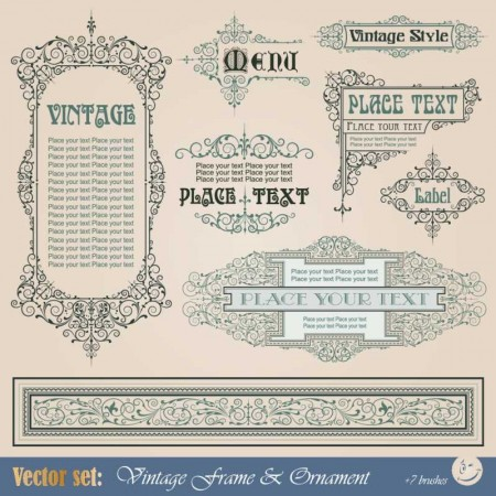 Frame-border-ornament-and-element-in-vintage-style-vector-set-5-2-450x450