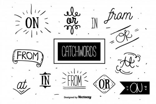 free-catchwords-set-vector