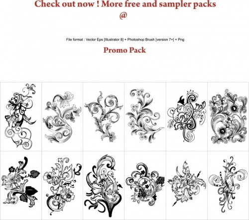 Free-Floral-Vector-Brush-Pack-500x443