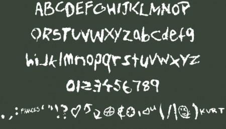 Free Fonts teen spirit font 450x258 黒板に書いたチョークみたいな英字フリーフォントまとめ   Free Style