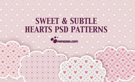 Free Hearts PSD Patterns - Photoshop patterns