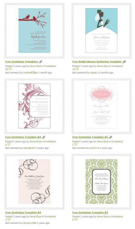 Free Invitation Template - Weddingbee DIY Projects