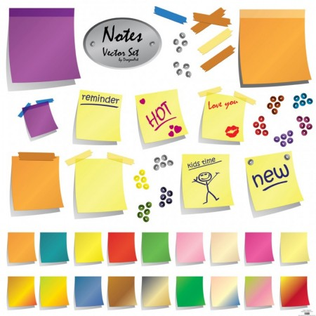 Free-Vector-Post-It-Notes