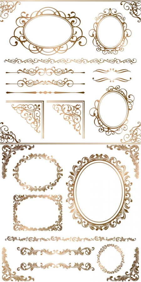 Free-gold-ornamental-frames-borders-corners-vector-450x900