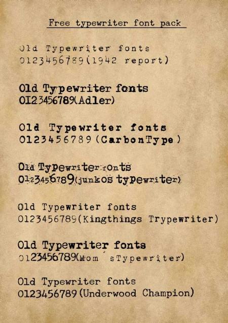 Free-typewriter-font-pack-sample-450x636