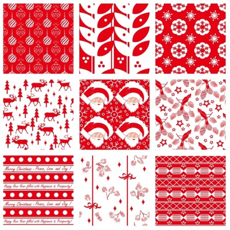 Free vector Seamless Christmas swatches pattern