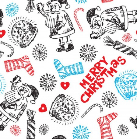 FreeVector-Christmas-Doodle-Pattern
