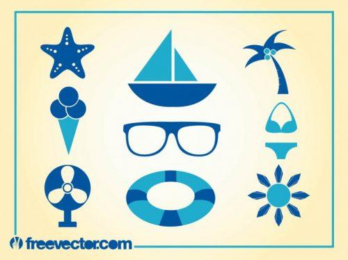 FreeVector-Summer-Icons-Vector