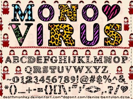 Freebie-font-Denne-MONOVIRUS-alphabet1-450x337