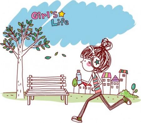 Girl life vector eps girl life Free Vector