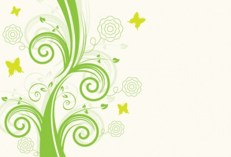 Green-Floral-Design-Vector-Graphic-450x306