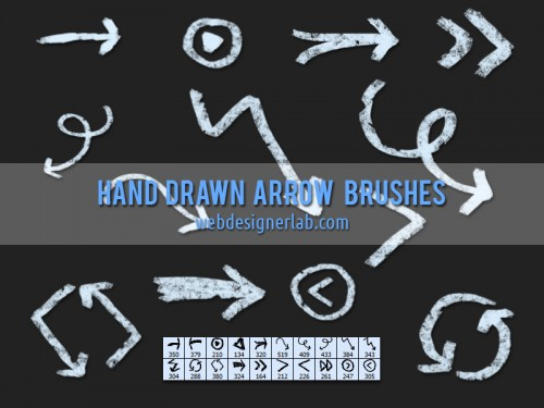 Grungy-Hand-Drawn-Arrow-Brushes-500x375