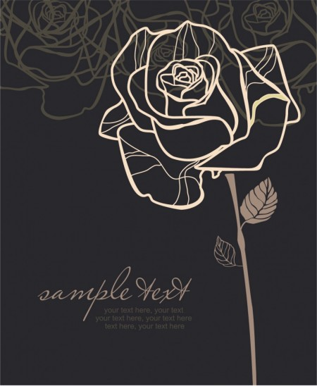 Handpainted-rose-pattern-line-draft-04-450x548