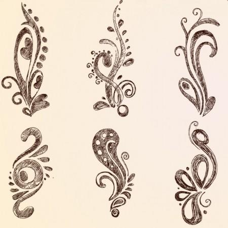 Handwriting-European-lace-pattern-vector1-450x450