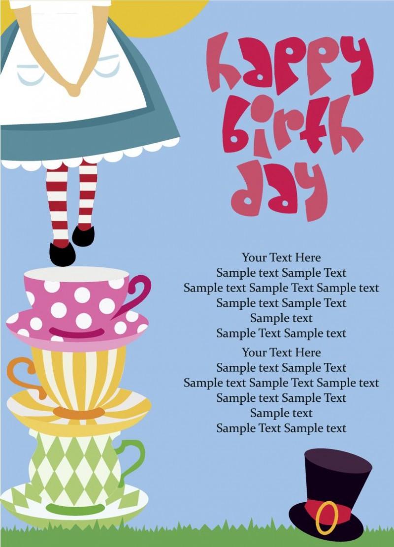 Happy Birthday Vector Free : 誕生日カード デザイン 無料 : カード