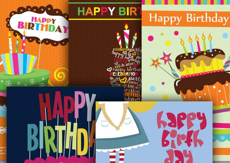 お誕生日にメッセージカード無料テンプレートいろいろeps Free
