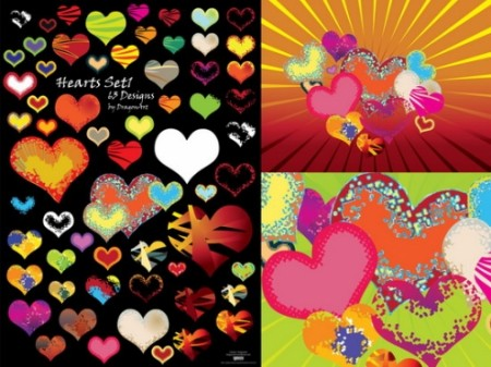Hearts-Set1-by-DragonArt-02-450x337
