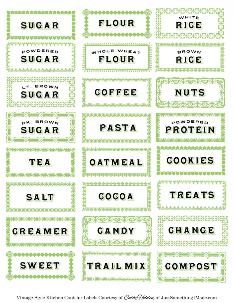 印刷 web 印刷 pdf : Printable Kitchen Labels