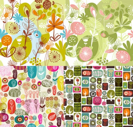 Lovely-flowers-and-plant-material-vector-450x432