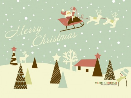 Lovely_vector_art_of_santa_claus_in_sky-450x337