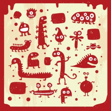 Many-cute-doodle-monsters-450x451