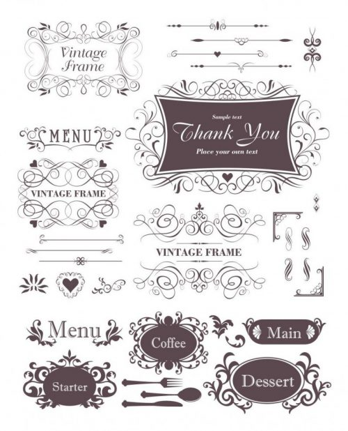 menu-decorative-elements-vector