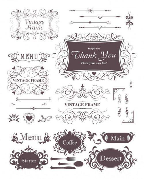 menu-decorative-elements-vector