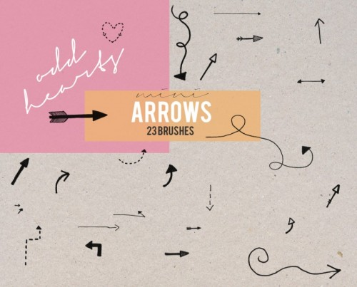 Mini Arrows - Brushes by oddhearts on deviantART