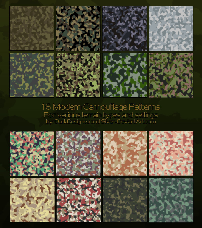 how to make a camo pattern
