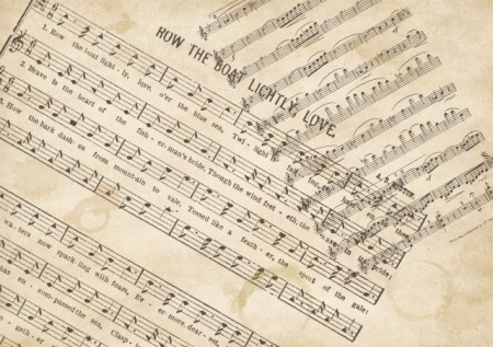 Music scores Vintage Brushes