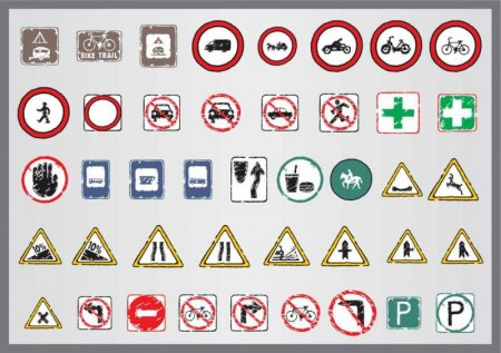 Old-traffic-signs-icon-01-vector-450x317