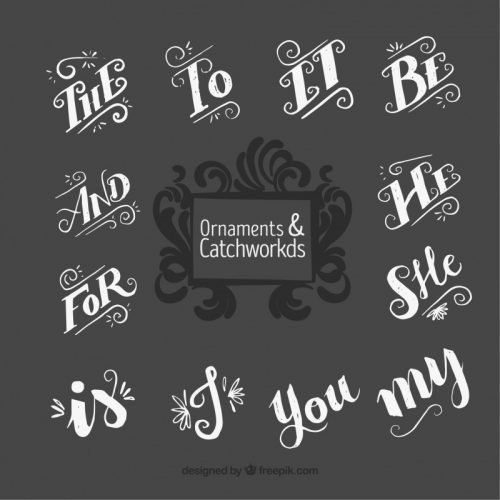 ornamental-catchword-collection-vector