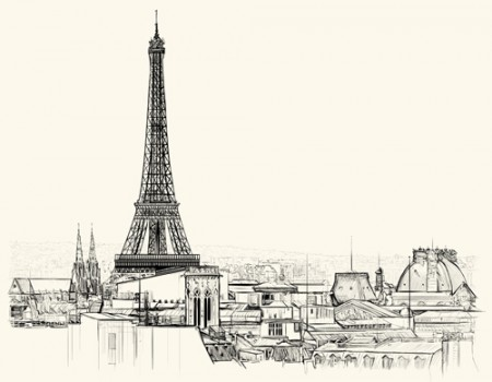 Paris-symbols-elements-vector-05-450x350