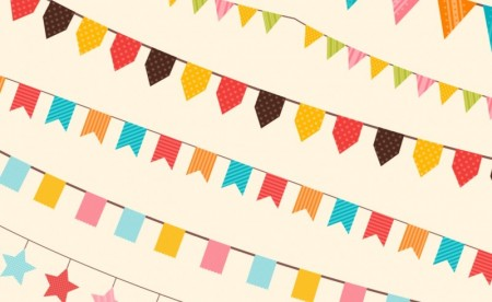 Party decorations vector ornaments