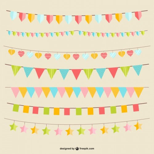 Party-flags-vector-Vector-500x500