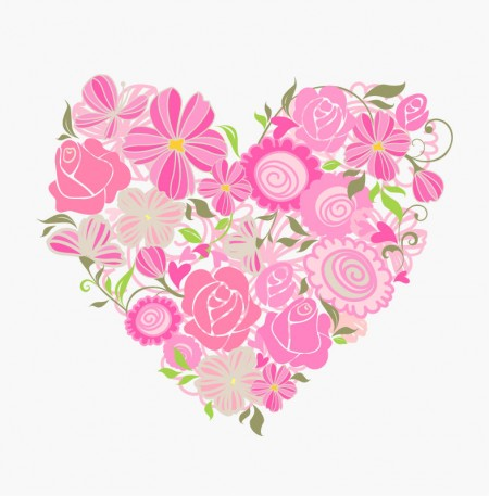 Pink-Floral-Heart-Vector-Graphic-450x457