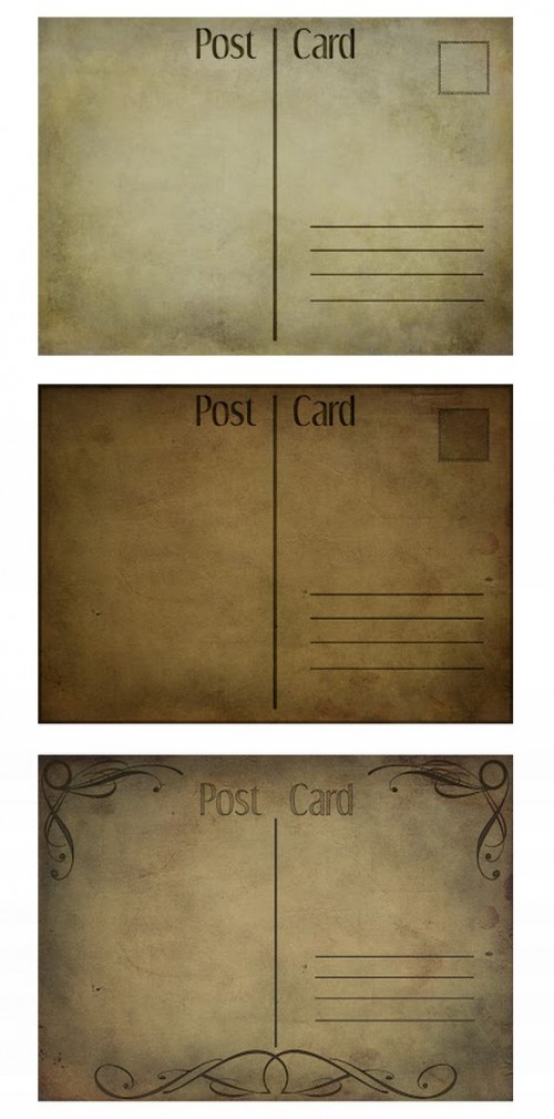 Post Cards Texture Set
