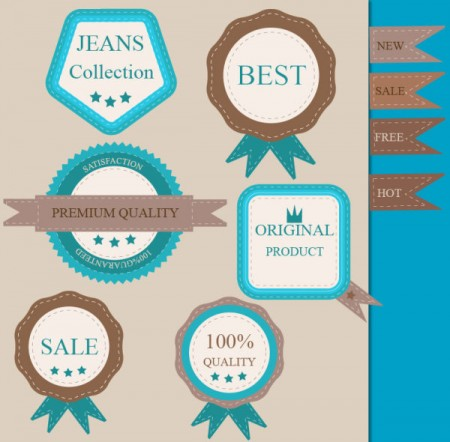 Premium and guaranty quality labels vector (1)
