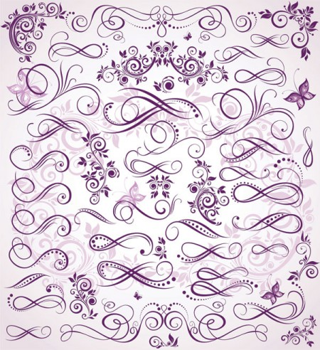 Purple-fine-pattern-vector-material-450x492